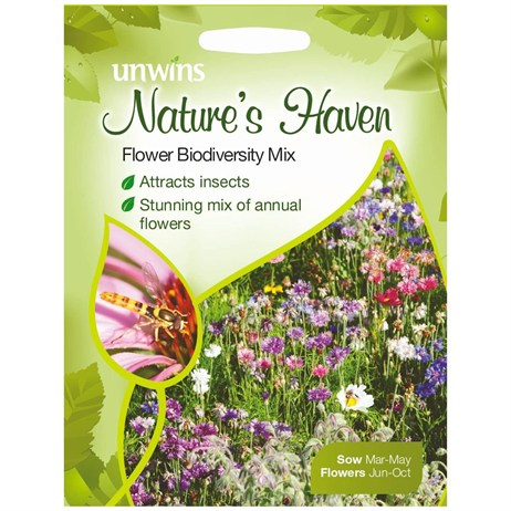 Unwins Seeds Natures Haven Flower Biodiversity Mix (30210454)