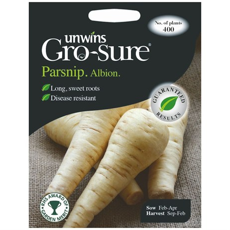 Unwins Seeds Parsnip Albion F1 (30310167) Vegetable Seeds