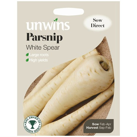 Unwins Seeds Parsnip White Spear (30310168)