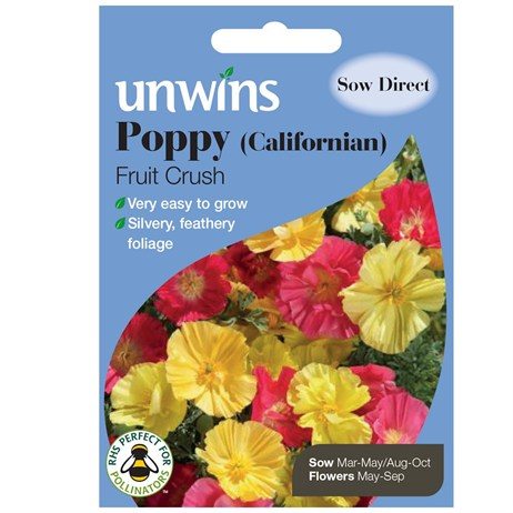 Unwins Seeds Poppy Californian Fruit Crush (30210582)