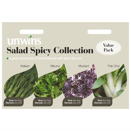 Unwins Seeds Salad Spicy Collection (30310008) Vegetable Seeds