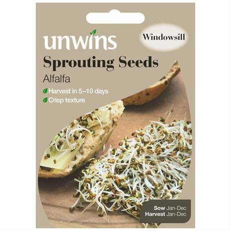 Unwins Seeds Sprouting Seeds Alfalfa (30310210)