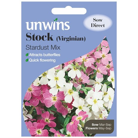 Unwins Seeds Stock Virginian Stardust Mix (30210195)