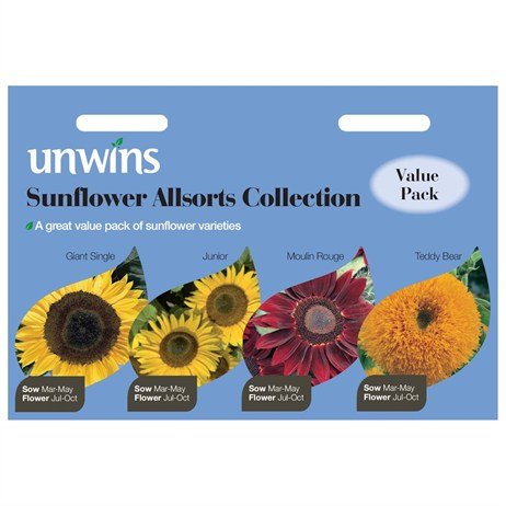 Unwins Seeds Sunflower Allsorts Collection 4 In 1 (30210591)