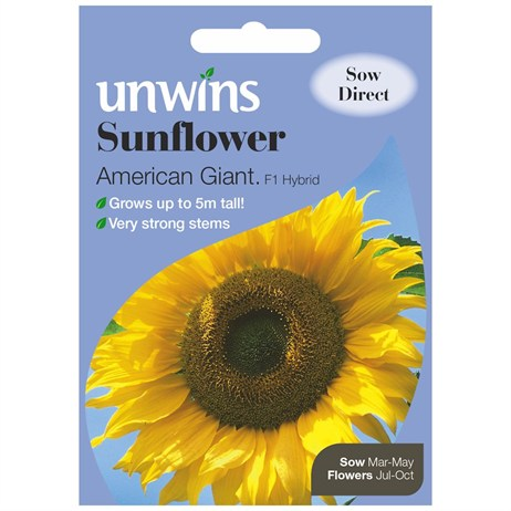 Unwins Seeds Sunflower American Giant F1 (30210446)
