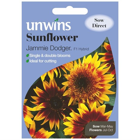 Unwins Seeds Sunflower Jammie Dodger F1 (30210198)