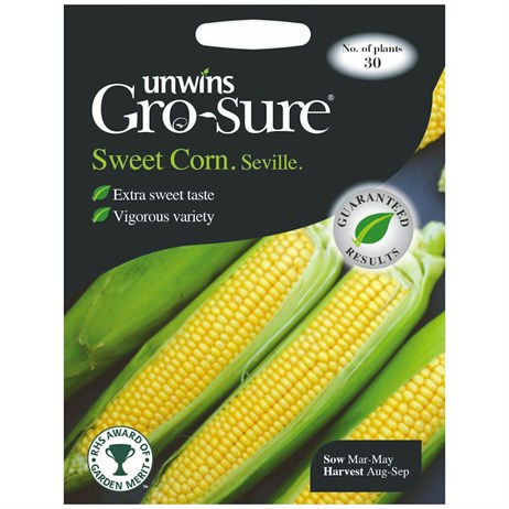 Unwins Seeds Sweet Corn Seville F1 (30310388)