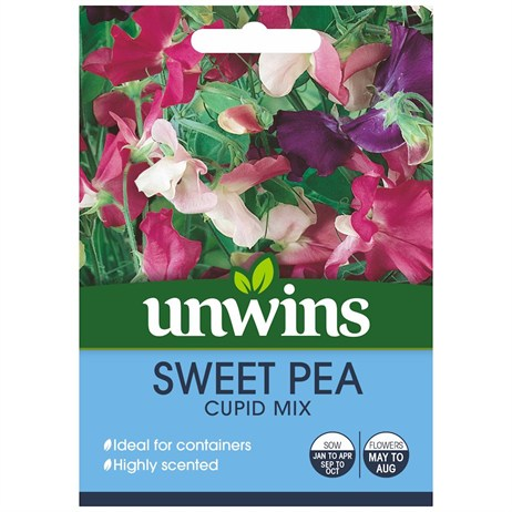 Unwins Seeds Sweet Pea Cupid Mix (30210427)