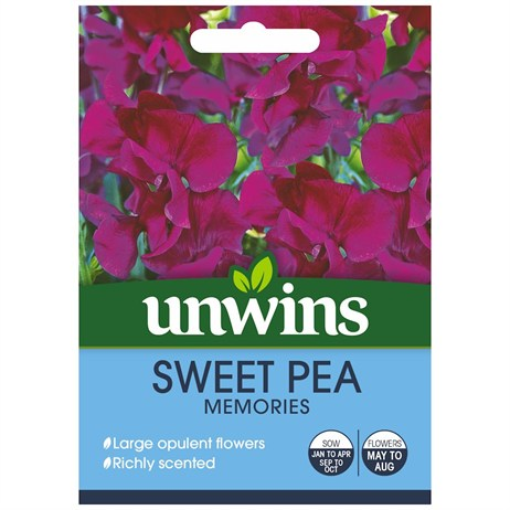 Unwins Seeds Sweet Pea Memories (30210619)