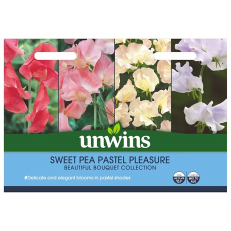 Unwins Seeds Sweet Pea Pastel Pleasure (30210623)