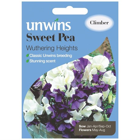 Unwins Seeds Sweet Pea Wuthering Heights (30210479)