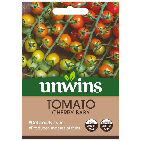 Unwins Seeds Tomato Cherry Baby (30310560) Vegetable Seeds