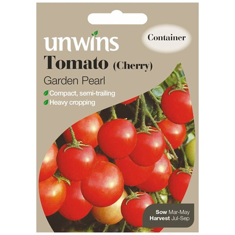 Unwins Seeds Tomato (Cherry) Garden Pearl (30310243) Vegetable Seeds