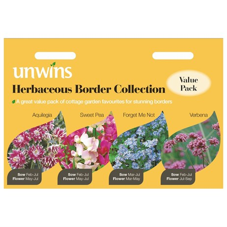Unwins Seeds Unwins Herbaceous Border Collection (30210238)