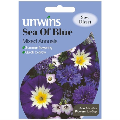 Unwins Seeds Unwins Sea Of Blue Mixed Annuals (30210241)