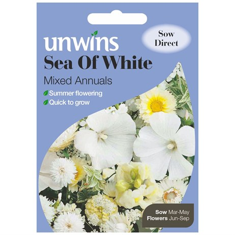 Unwins Seeds Unwins Sea Of White Mixed Annuals (30210245)