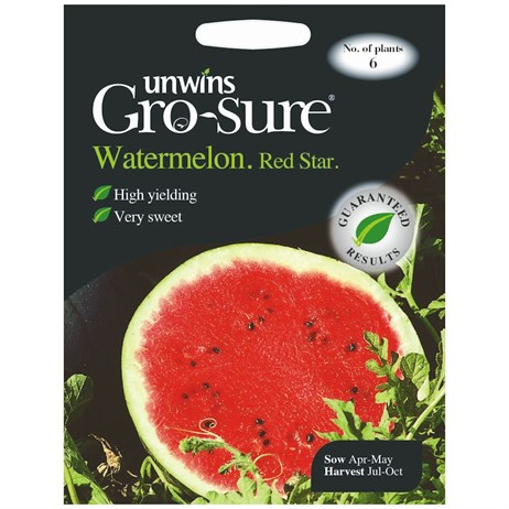 Unwins Seeds Watermelon Red Star F1 (30310399)