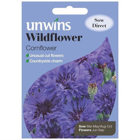 Unwins Seeds Wildflower Cornflower (30710007)