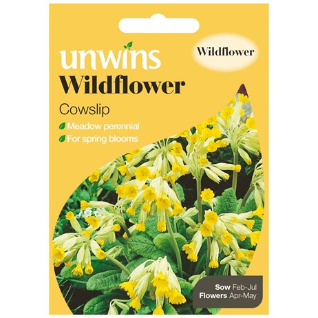 Unwins Seeds Wildflower Cowslip (30710003) Flower Seeds