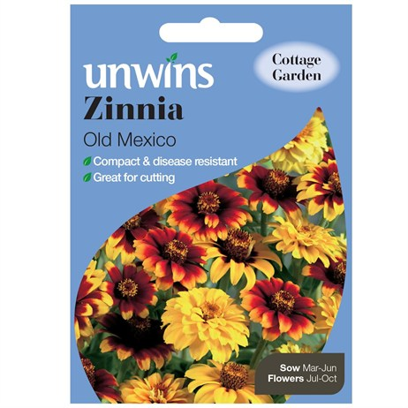 Unwins Seeds Zinnia Old Mexico (30210604) Flower Seeds
