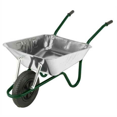 Walsall Wheelbarrow Co. - The Contractor 85L Heavy Duty Galvanised (CGVP)