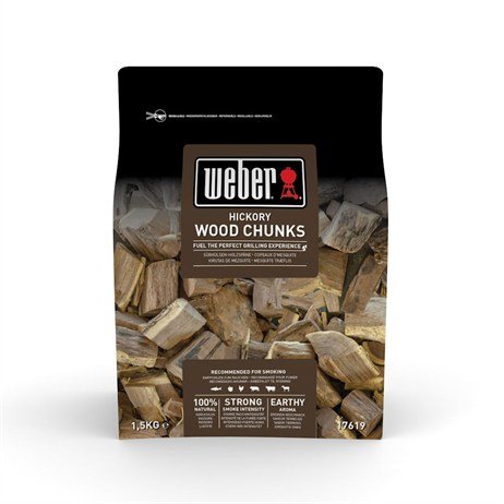 Weber Hickory Wood Chunks 1.5kg (17619)