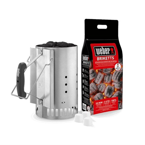 Weber Rapidfire Chimney Starter Set (17631) Barbecue Accessory