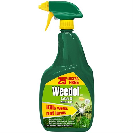 Weedol Lawn Weed Killer Spray gun Plus 25% Extra - 800ml (119388)
