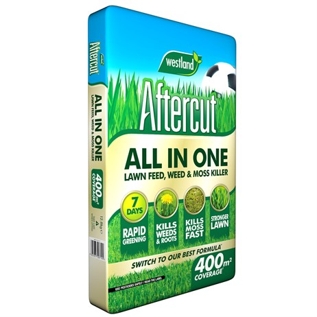 Westland Aftercut All in One Lawn Feed - Weed & Moss Killer Bag 400m2 (20400461)