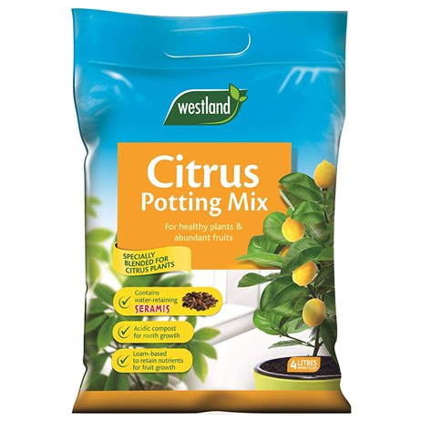 Westland Citrus Potting Compost Mix and Enriched with Seramis - 8L (10200036)