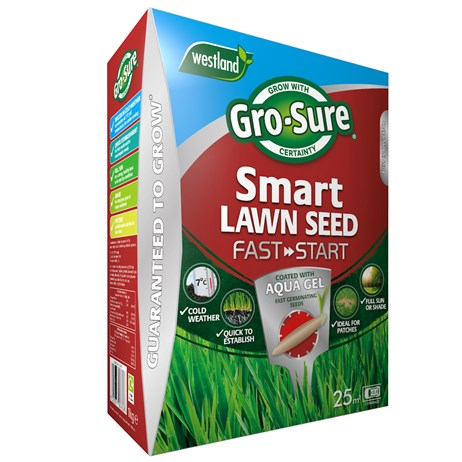Gro-Sure Aqua Gel Coated Fast Start Smart Grass Lawn Seed - 25 sq.m - 1kg (20500254)