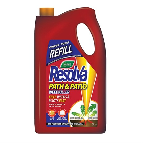 Resolva Path and Patio Ready To Use Power Pump Weed Killer Refill - 5 Litre (20300365)