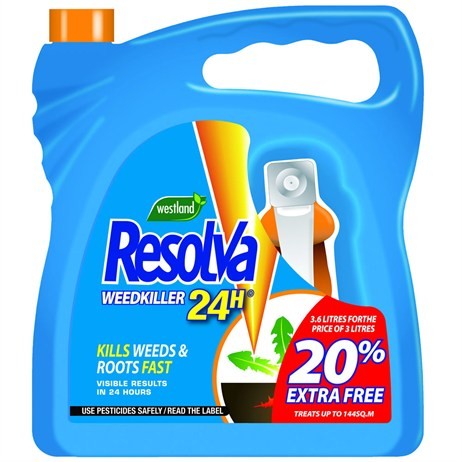 Resolva 24H Ready To Use Weed Killer - 3.6 Litres (20300468)