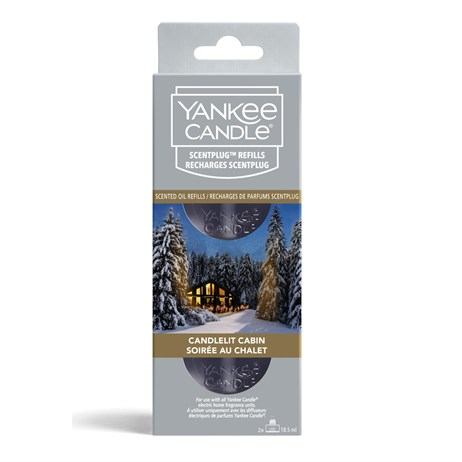 Yankee Candle Christmas - Scent-Plug Twin Pack Refills - Candlelit Cabin (1645772E)