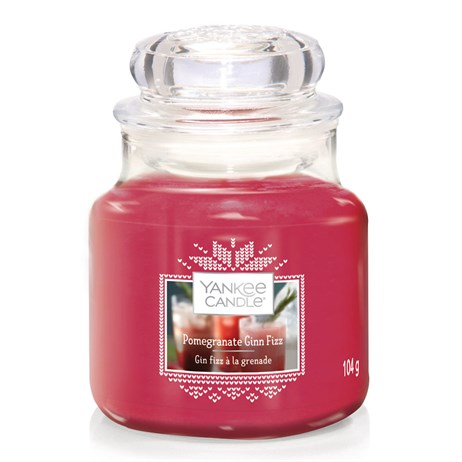 Yankee Candle Christmas - Small Jar - Pomegranate & Gin Fizz (1623743E)