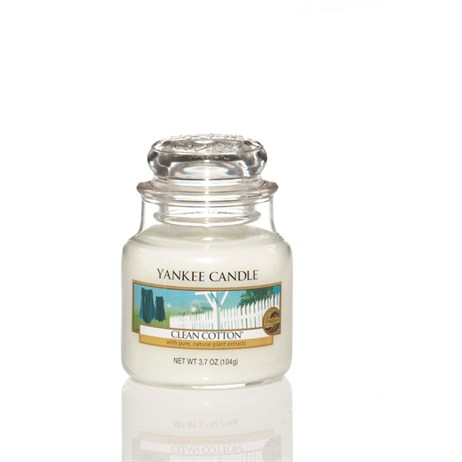 Yankee Candle Classic Small Jar - Clean Cotton (1010727E)