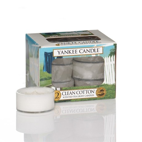 Yankee Candle Classic Tea Lights - Clean Cotton (1016718E)