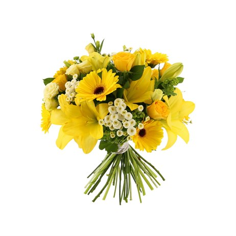Yellow Handtied Bouquet - Premium