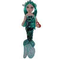 Ty Beanie Sequin Mermaid Toy - Aqua Azure (02107)