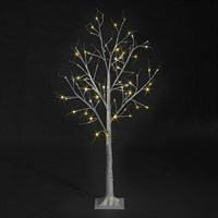 SnowTime 1.2m Birch Tree Artificial Christmas Tree with 48 Warm White LEDs (RS04361)
