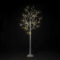 SnowTime 1.8m Birch Tree Artificial Christmas Tree with 48 Warm White LEDs (RS04363)