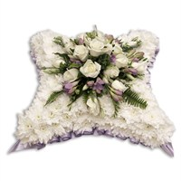 With Sympathy Flowers - Chrysanthemum Based Cushion 15inch