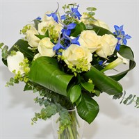 Baby Boy Blue Hand Tied Bouquet
