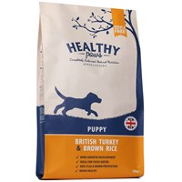 Healthy Paws British Turkey & Brown Rice (Puppy) 12kg Dog Food