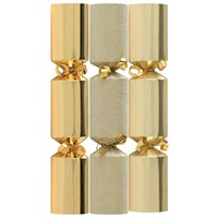 Tom Smith Gold Mini Luxury Crackers - 6 x 8 Inch  (XAFTS2301)