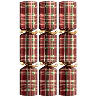 Tom Smith Red Tartan Mini Luxury Crackers - 6 x 8 Inch  (XAFTS2303)