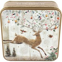 Grandma Wilds Jumping Stag Christmas Biscuit Tin - 160g