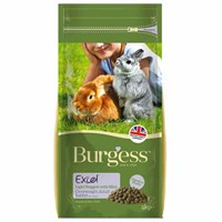 Burgess Excel Light Nuggets With Mint For Overweight Adult Rabbits Small Animal Food - 2kg