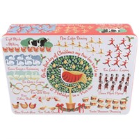 Bramble Embossed 12 Days of Christmas Biscuit Tin - 200g