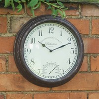 Outside-In Bickerton 12in Wall Clock and Thermometer (5060000)